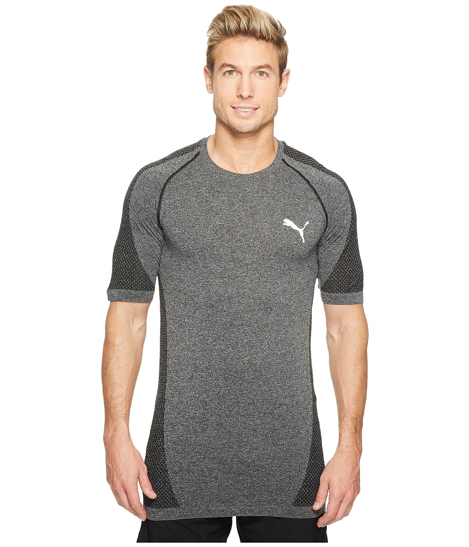 PUMA - evoKNIT Better Tee (PUMA Black Heather) Men's T Shirt