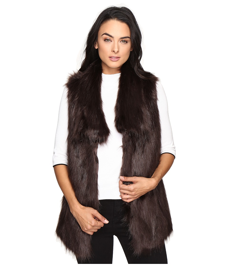 Via Spiga - Faux Fur Fox Vest (Brown) Women's Vest