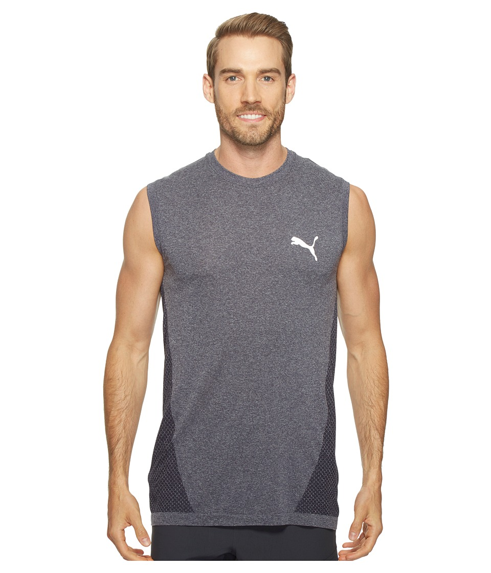 PUMA - evoKNIT Better Tank Top (Peacoat Heather) Men's Sleeveless