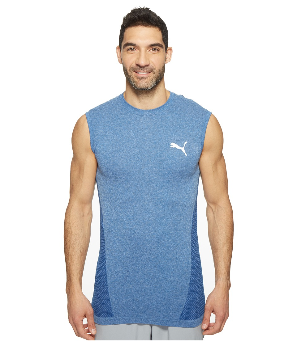 PUMA - evoKNIT Better Tank Top (True Blue Heather) Men's Sleeveless