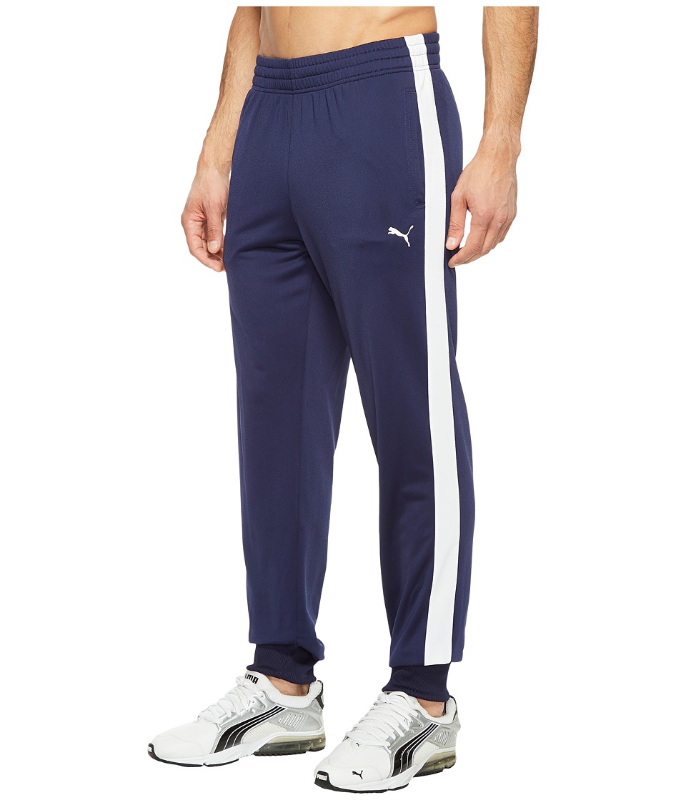 PUMA - Contrast Cuffed Pants (Peacoat/Puma White) Men's Casual Pants