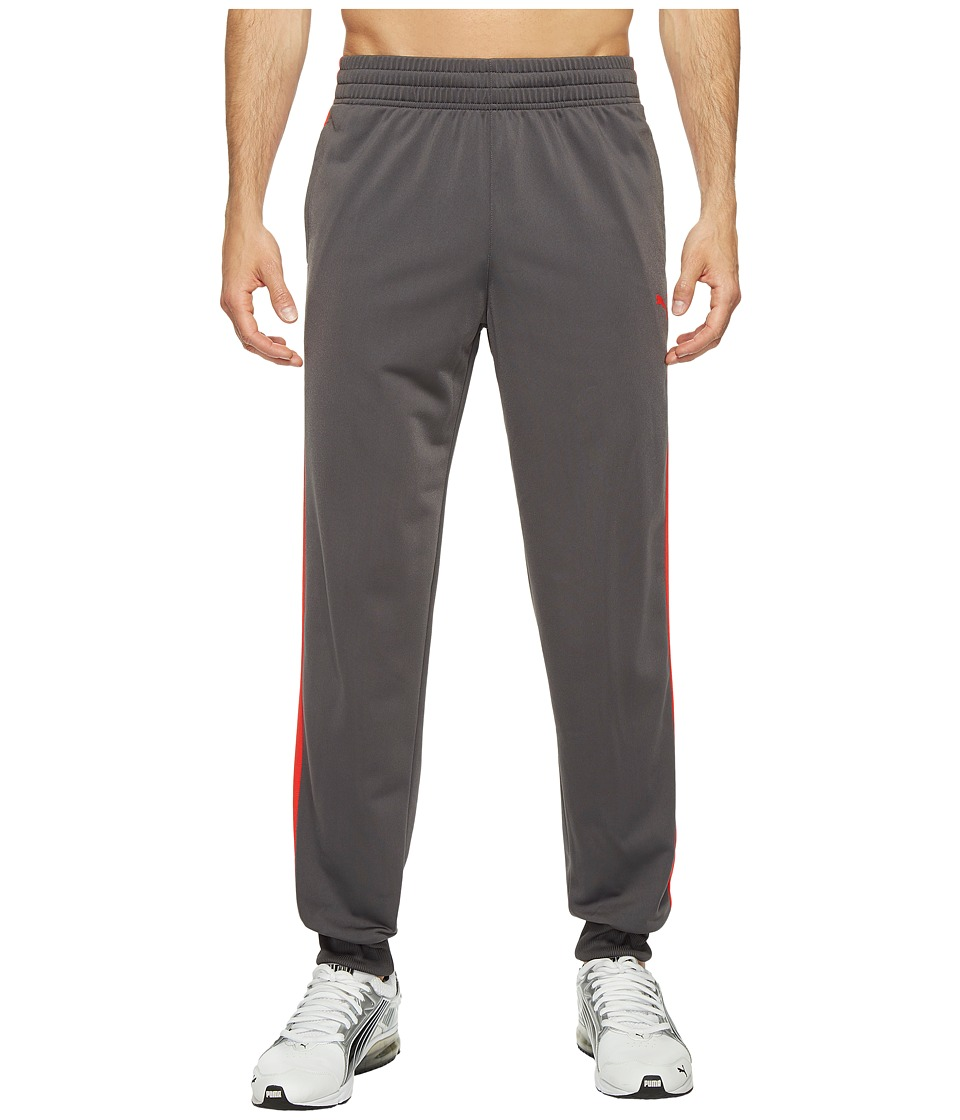 PUMA - Contrast Cuffed Pants (Asphalt/PUMA Red) Men's Casual Pants