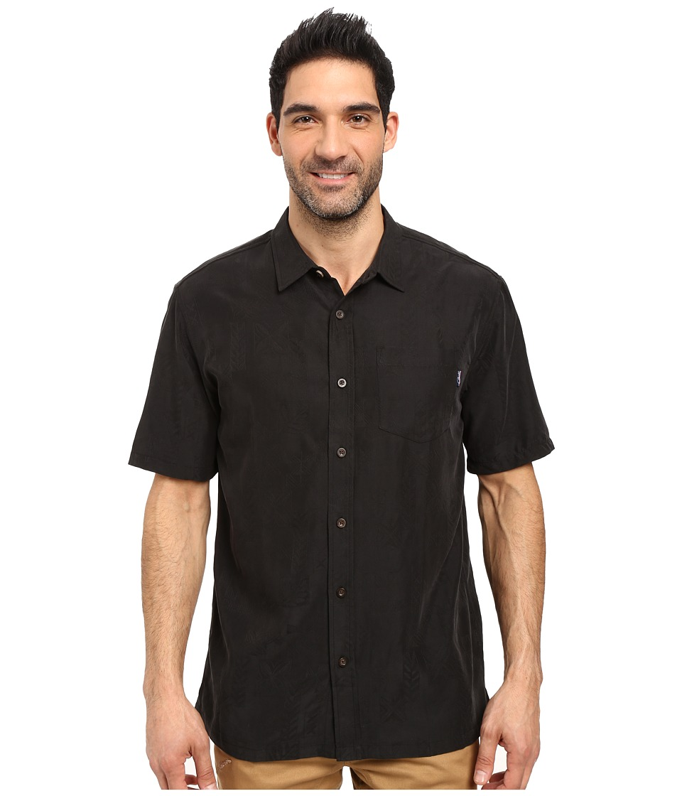 Jack O'Neill - Ohana Wovens (Black) Men's Short Sleeve Button Up