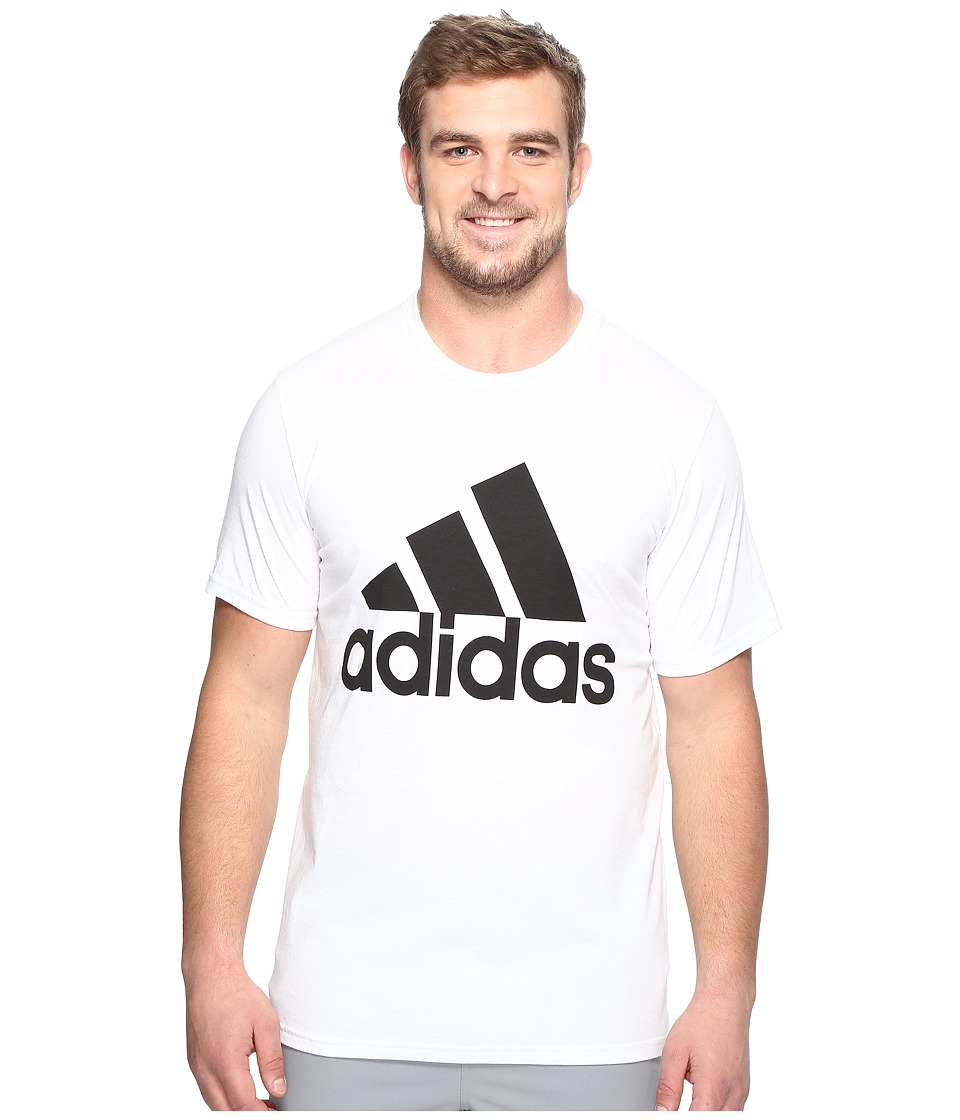 adidas - Big Tall Badge of Sport Classic Tee (White/Black) Men's T Shirt