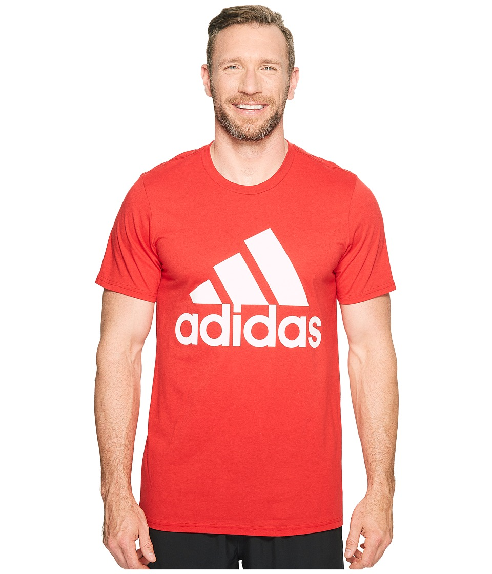 adidas - Big Tall Badge of Sport Classic Tee (Scarlet/White) Men's T Shirt
