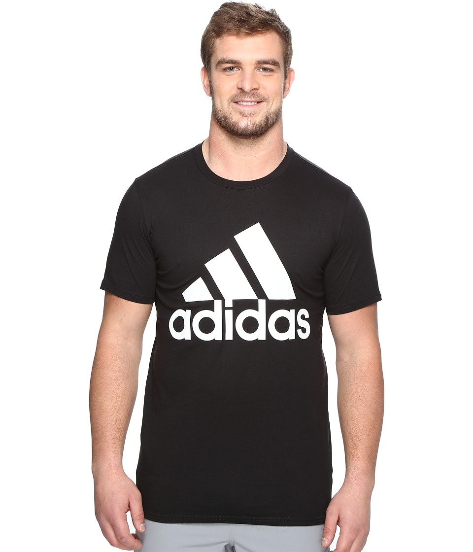 adidas - Big Tall Badge of Sport Classic Tee (Black/White) Men's T Shirt