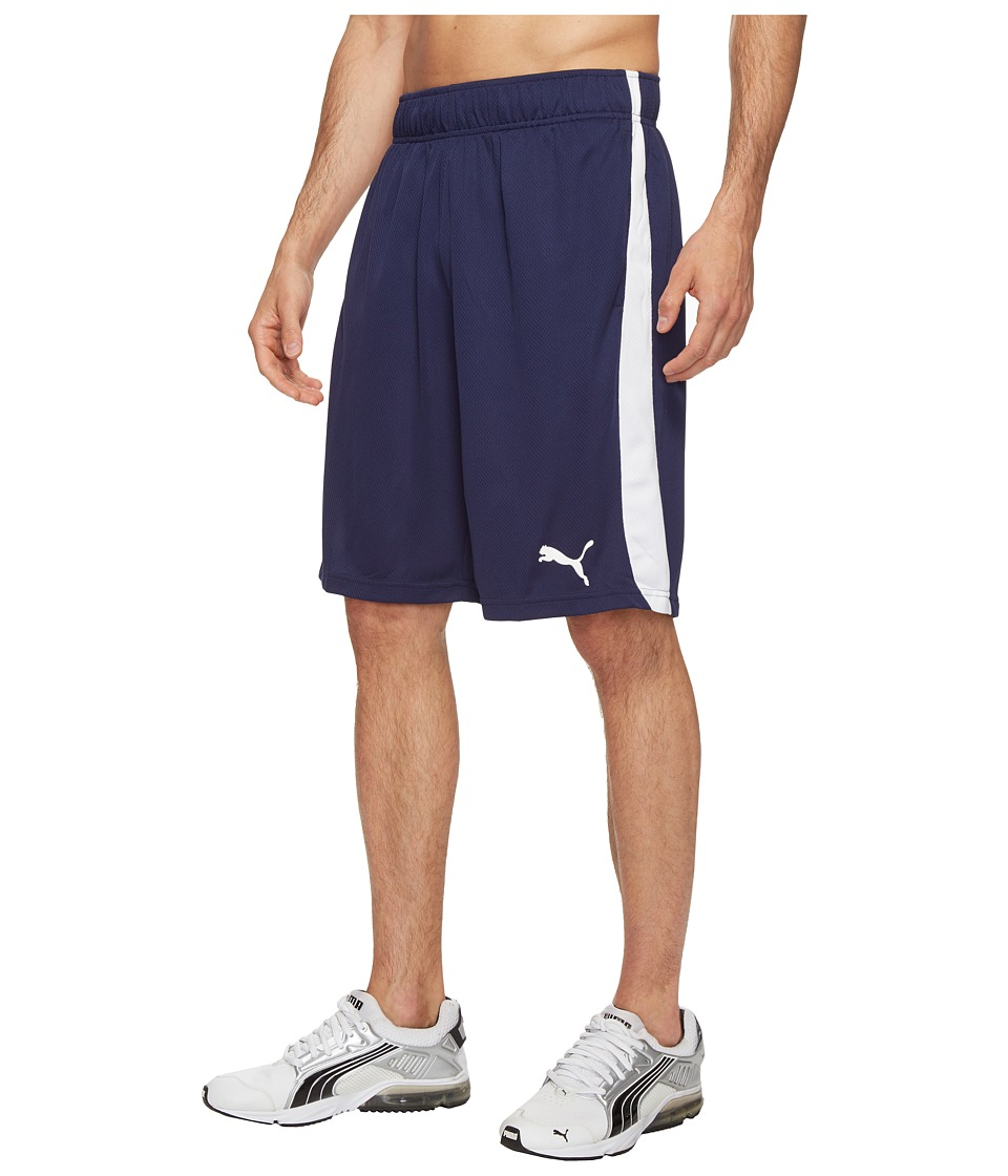 PUMA - Formstripe Mesh Shorts (Peacoat/Puma White) Men's Shorts