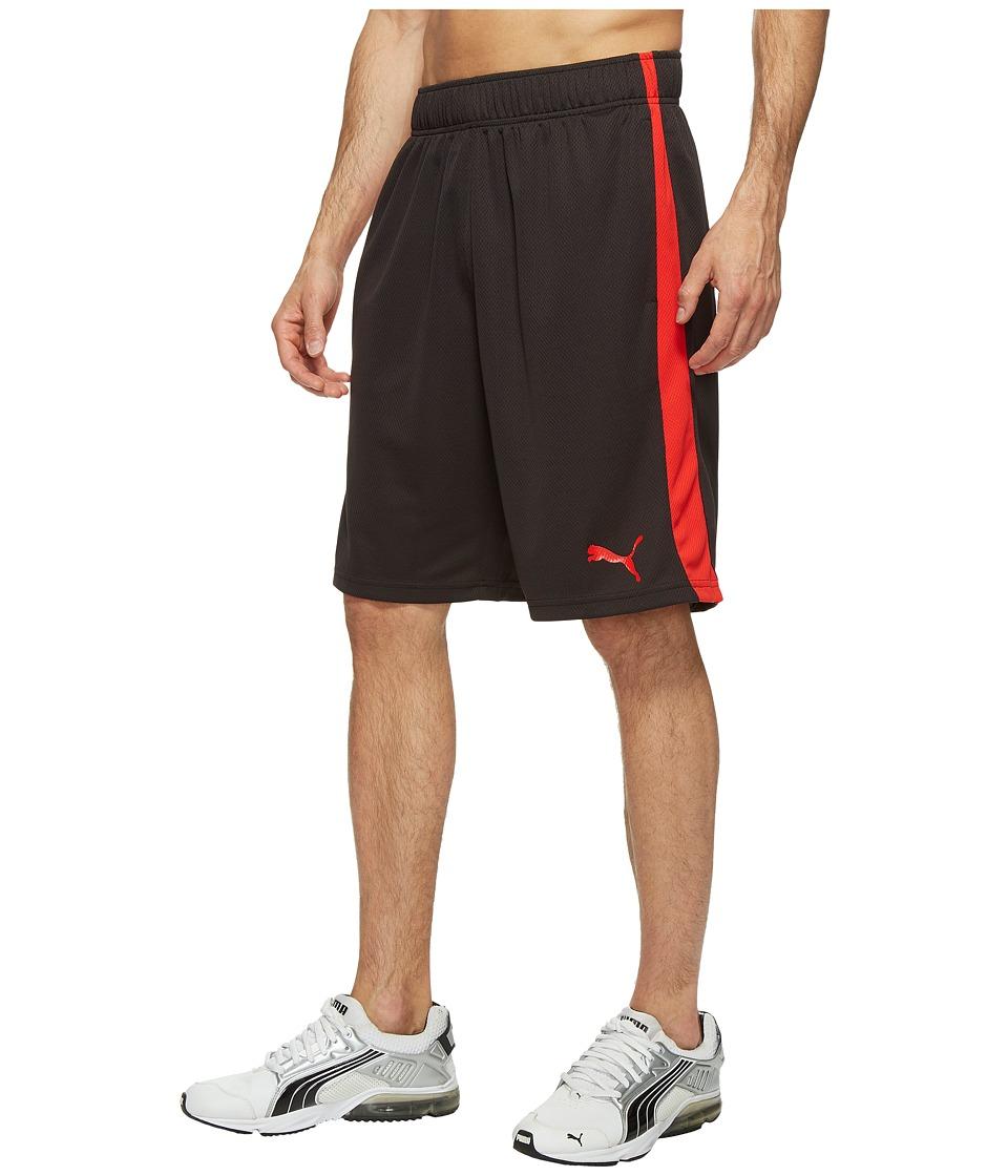 PUMA Formstripe Mesh Shorts (PUMA Black/PUMA Red) Men