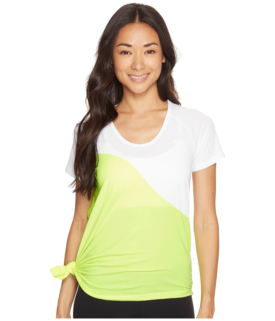 PUMA - Evo Side Knot Tee (PUMA White) Women's Clothing
