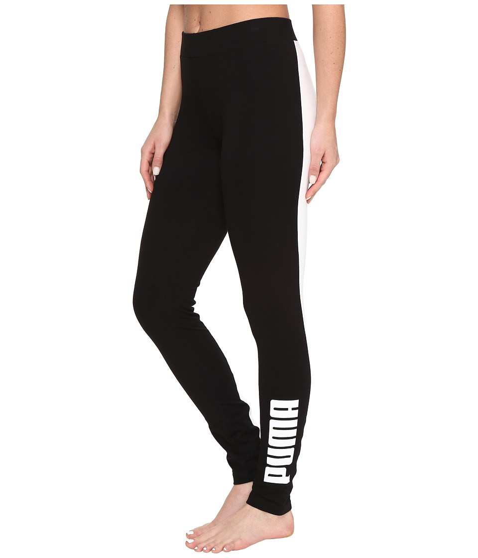 PUMA - Archive Logo T7 Leggings (Cotton Black) Women's Workout