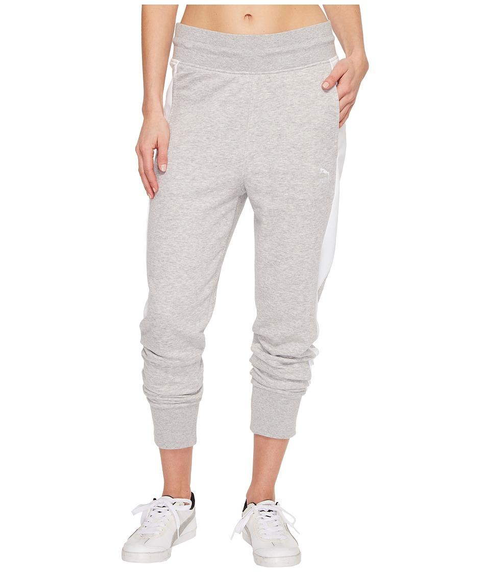 PUMA - Archive Logo T7 Sweatpants (Light Gray Heather) Women's Workout