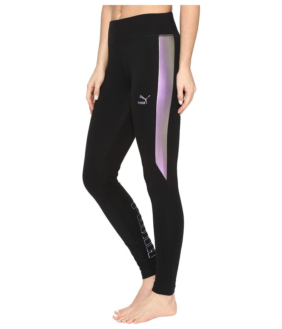 PUMA - Iridescent Print T7 Tights (PUMA Black) Women's Workout