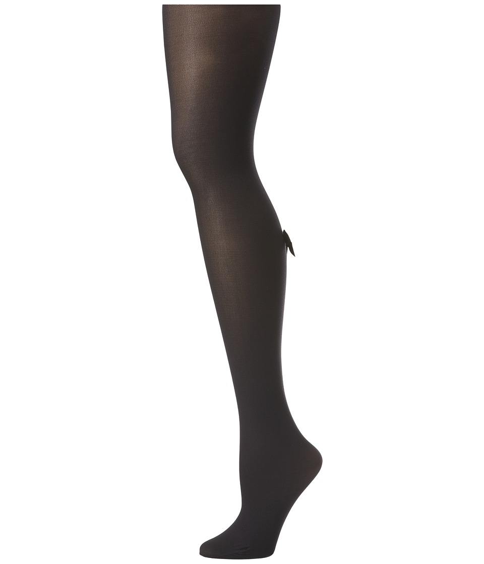 Pretty Polly - Bow Backseam Tights (Black/White) Hose