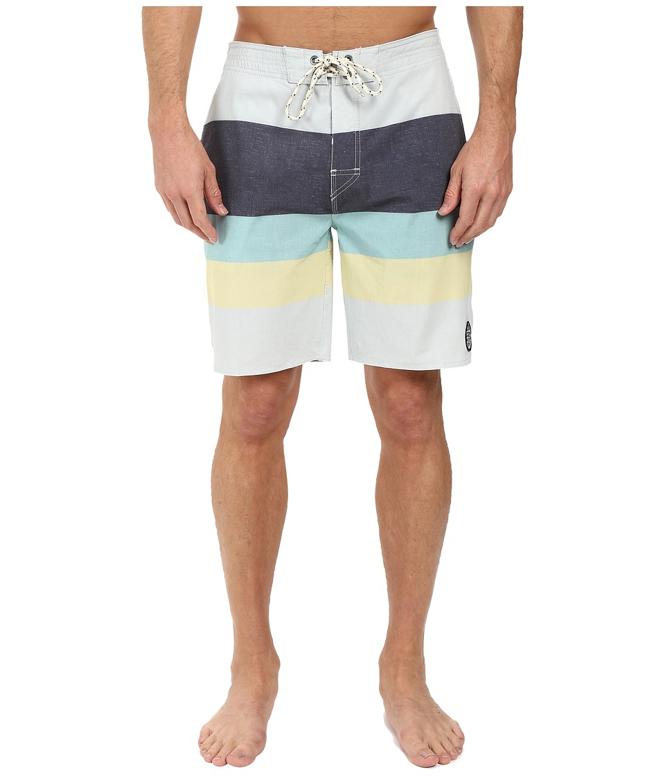 Rip Curl - The Bends Boardshorts (Blue) Men's Swimwear