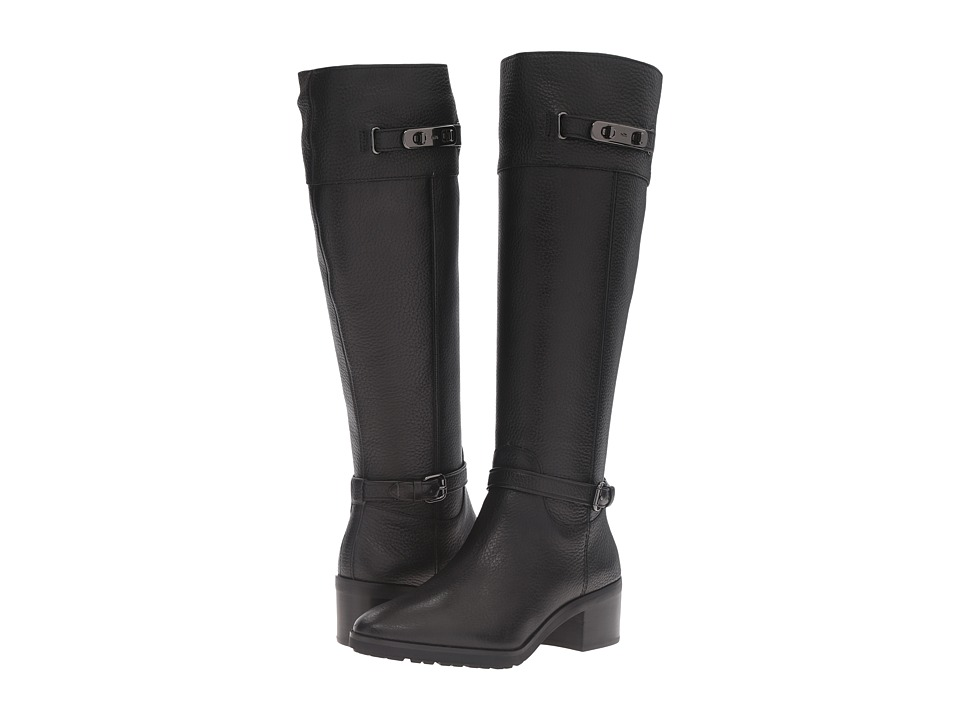 COACH - Sullivan (Black Safari Leather) Women's Zip Boots