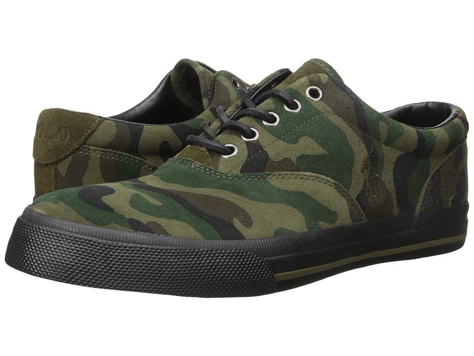 Polo Ralph Lauren - Vaughn (Olive Camo) Men's Lace up casual Shoes