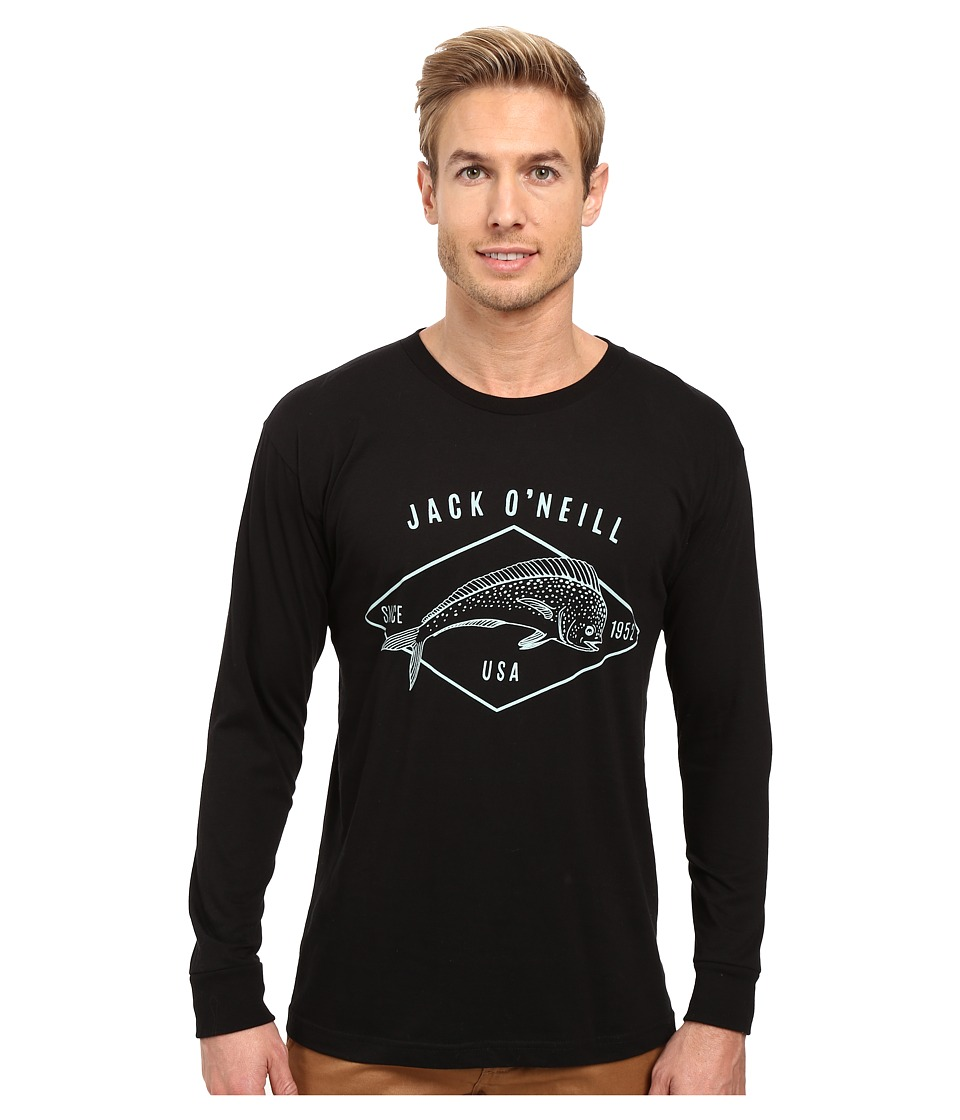 Jack O'Neill - Mahi Long Sleeve Screen Tee (Black) Men's T Shirt