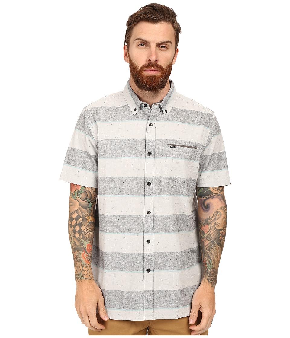 Rip Curl - Back Burner Short Sleeve Shirt (Black) Men's Clothing