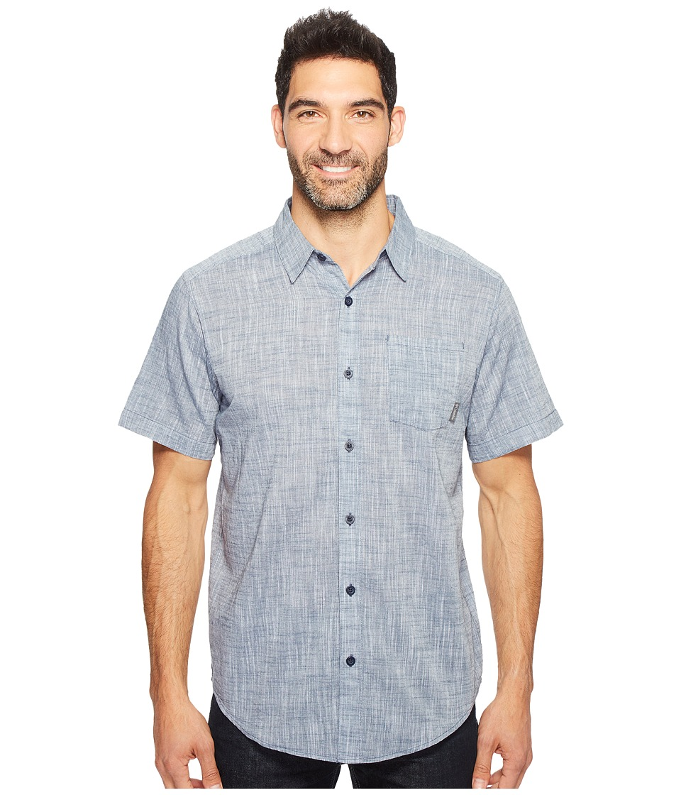 Columbia - Under Exposure Yarn-Dye Short Sleeve Shirt (Zinc) Men's Clothing