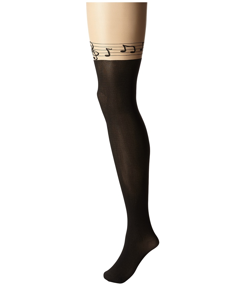 Pretty Polly - Musical Notes Tights (Nude/Black) Hose