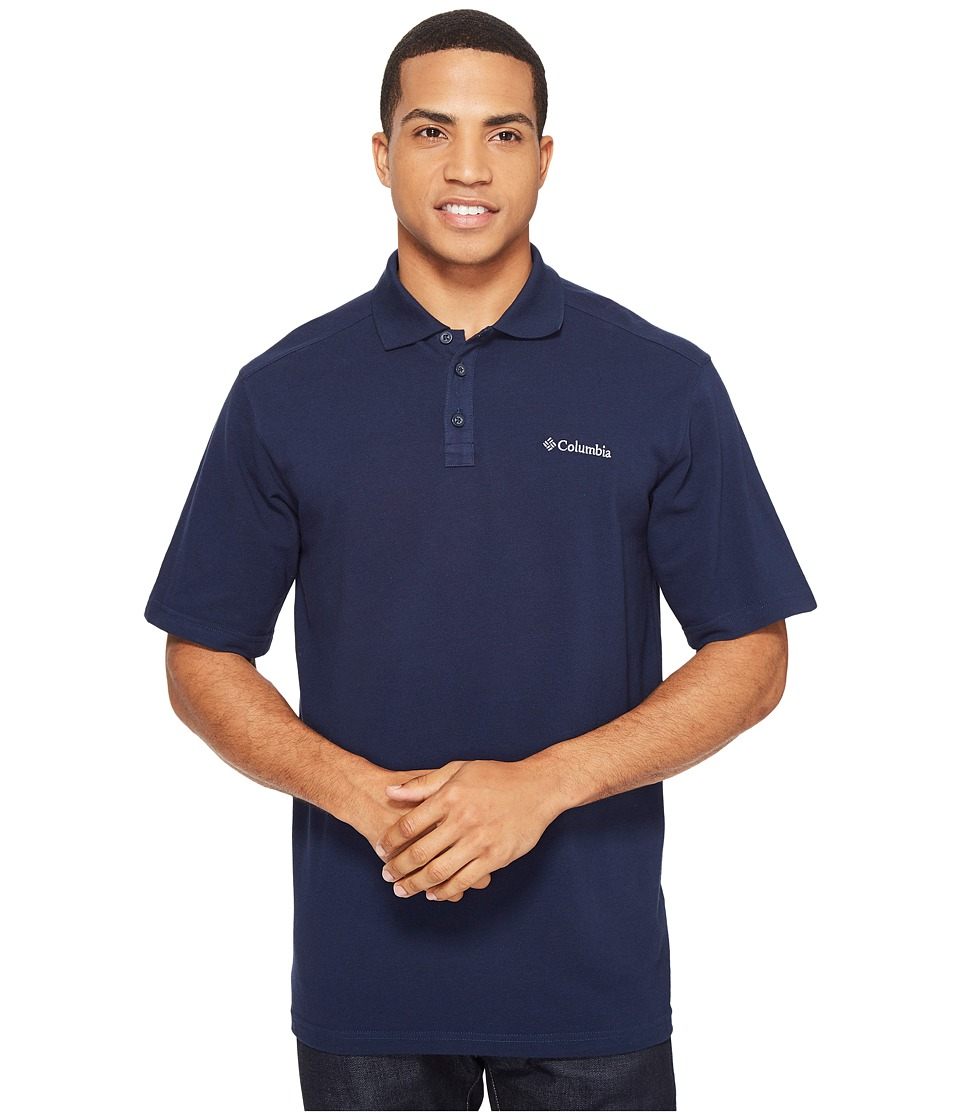 Columbia - Elm Creek Polo (Collegiate Navy) Men's Short Sleeve Knit