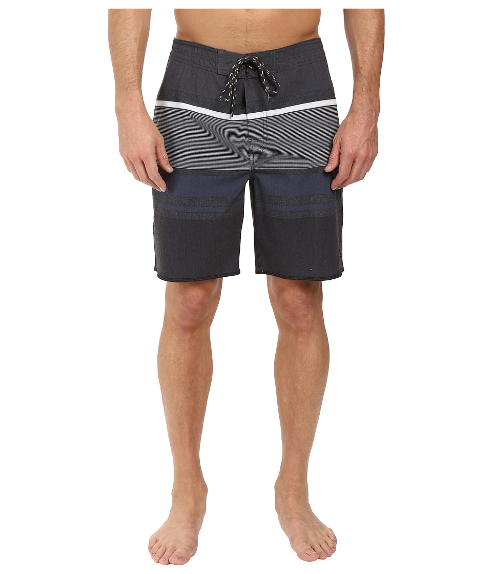 Rip Curl - Rapture Stripe Boardshorts (Black 1) Men's Swimwear