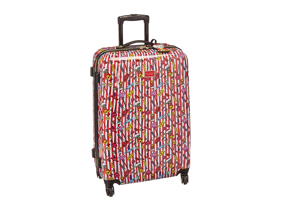 Betsey Johnson - Candy Cane Large Roller Luggage (Red/White) Luggage