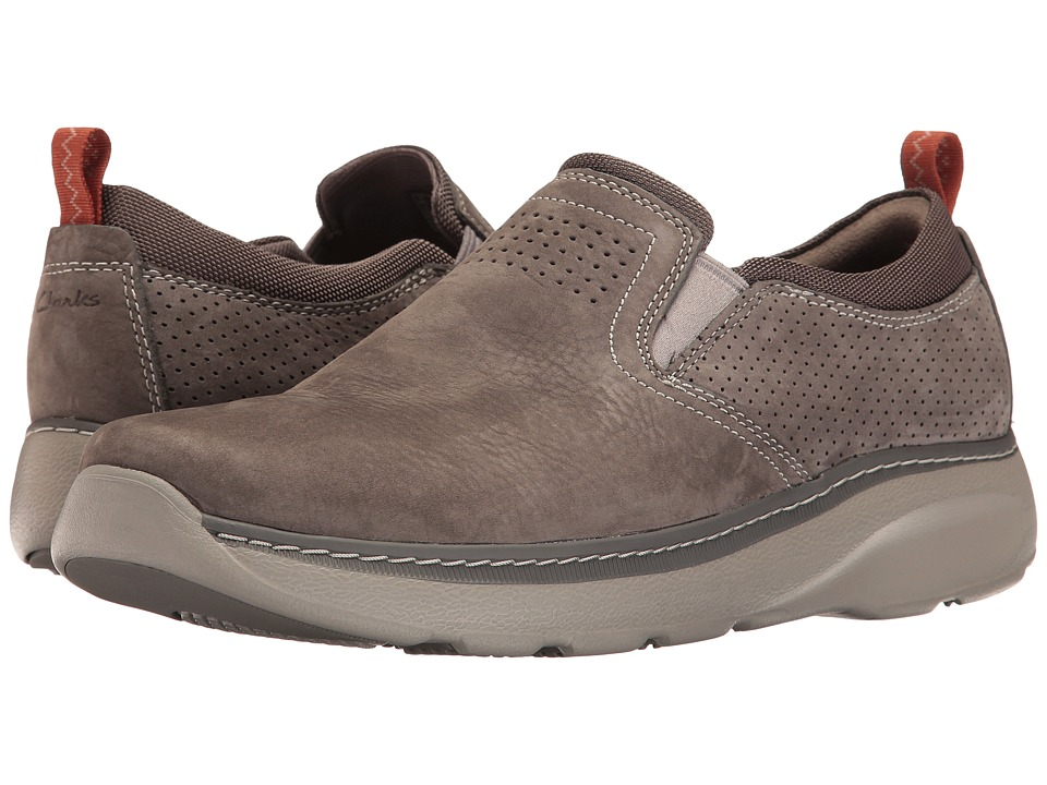 Clarks - Charton Free (Grey Nubuck) Men's Shoes