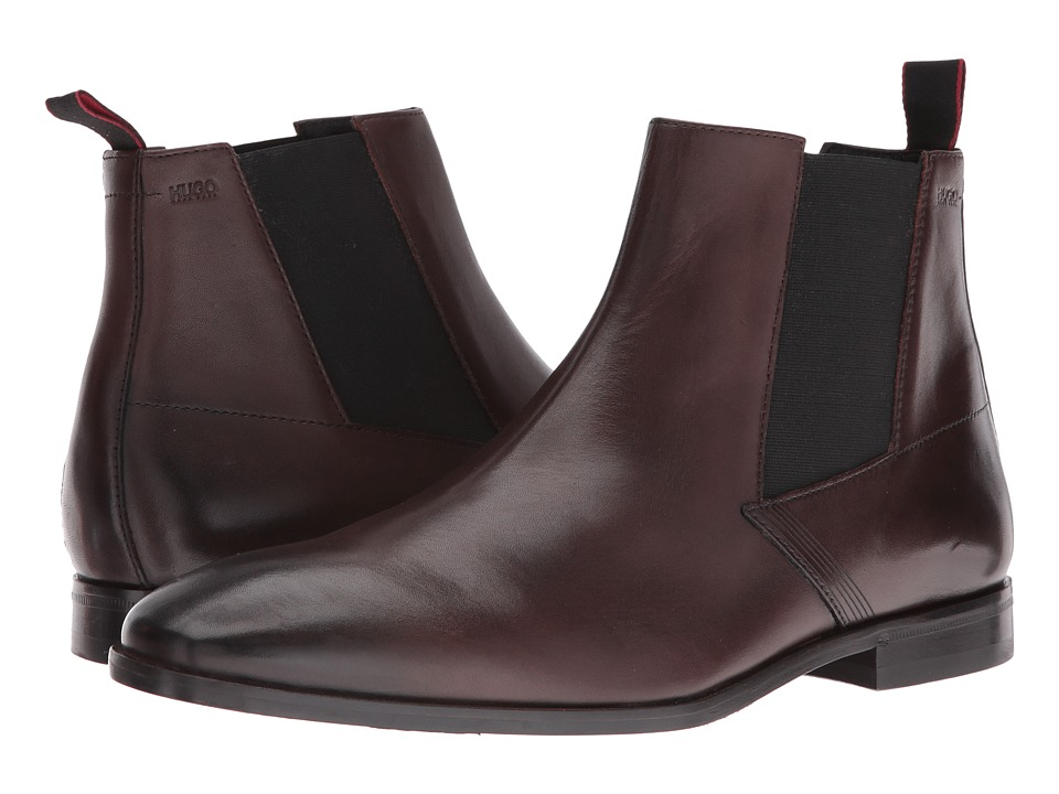 BOSS Hugo Boss - Square Chelsea by BOSS Green (Dark Brown) Men's Boots