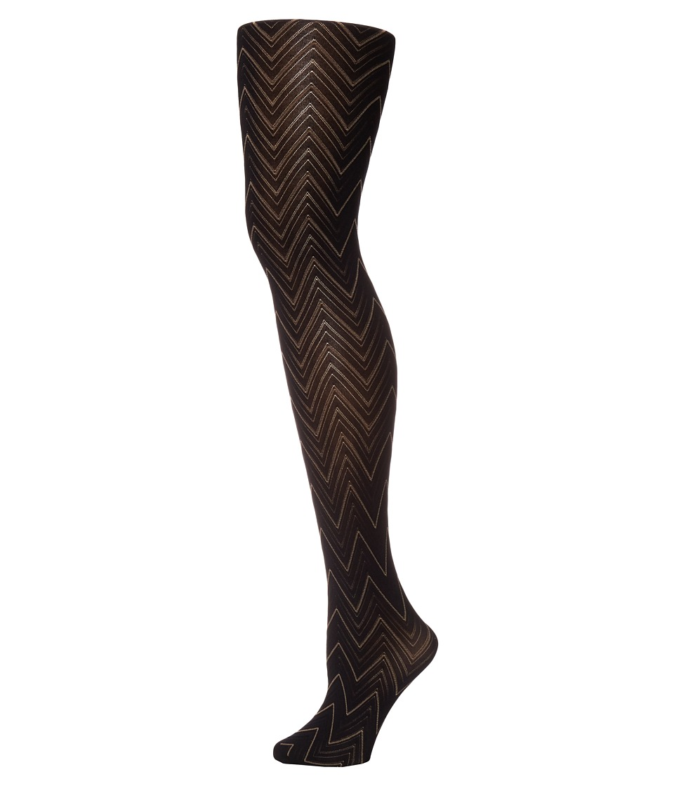 Pretty Polly - Chevron Tights (Black Mix) Hose