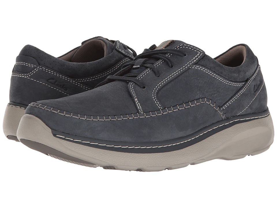 Clarks - Charton Vibe (Navy Nubuck) Men's Lace up casual Shoes