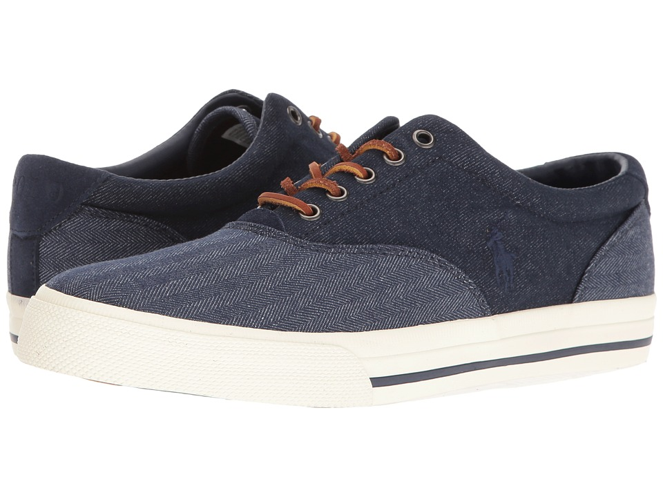 Polo Ralph Lauren - Vaughn Saddle (Blue/Dark Blue) Men's Shoes
