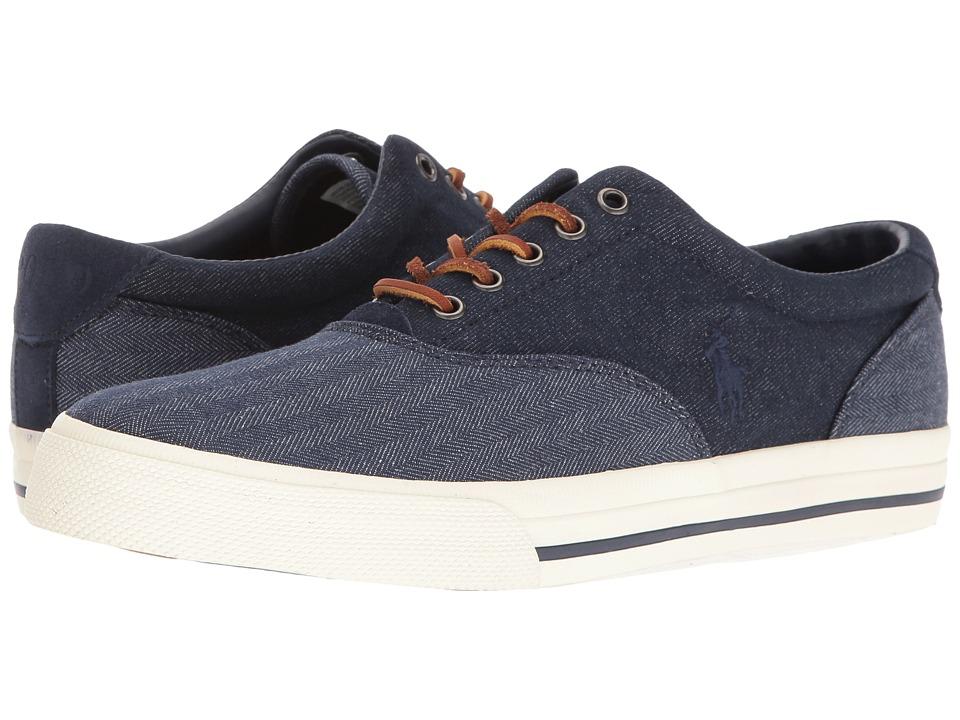 Polo Ralph Lauren - Vaughn Saddle (Blue/Dark Blue) Men's Shoes