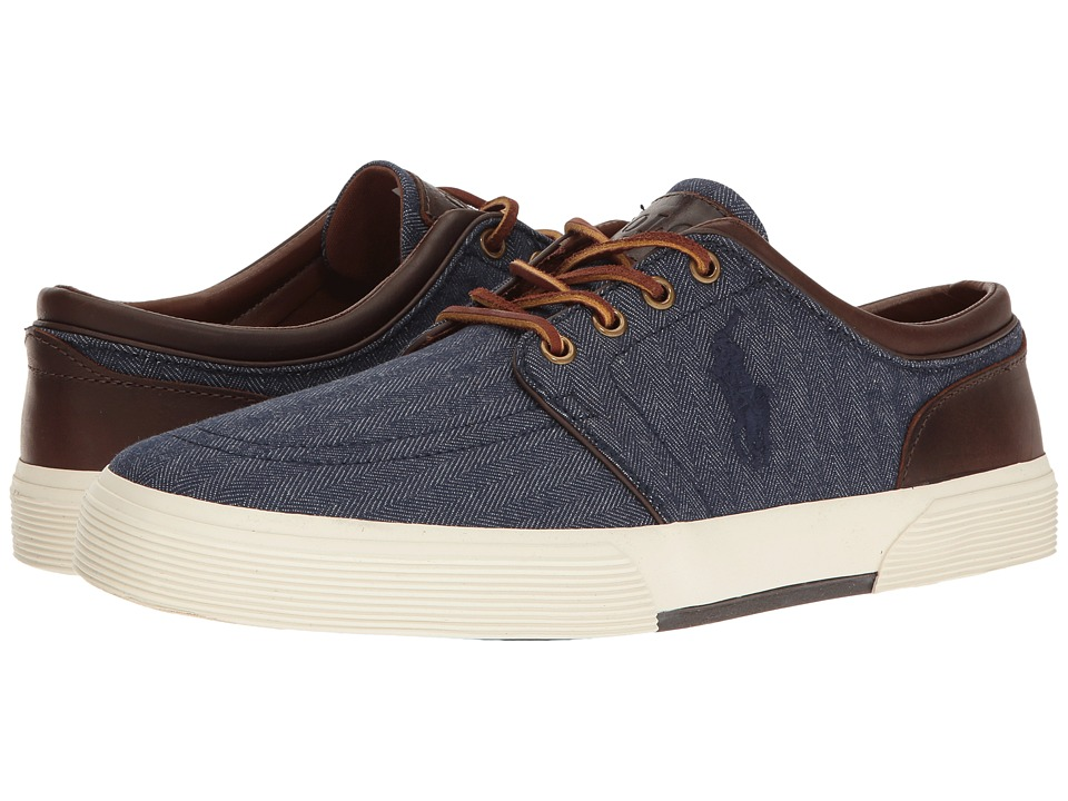 Polo Ralph Lauren - Faxon Low (Blue/Tan) Men's Shoes