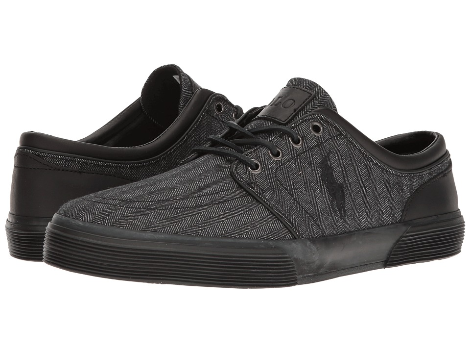 Polo Ralph Lauren - Faxon Low (Black/Black) Men's Shoes