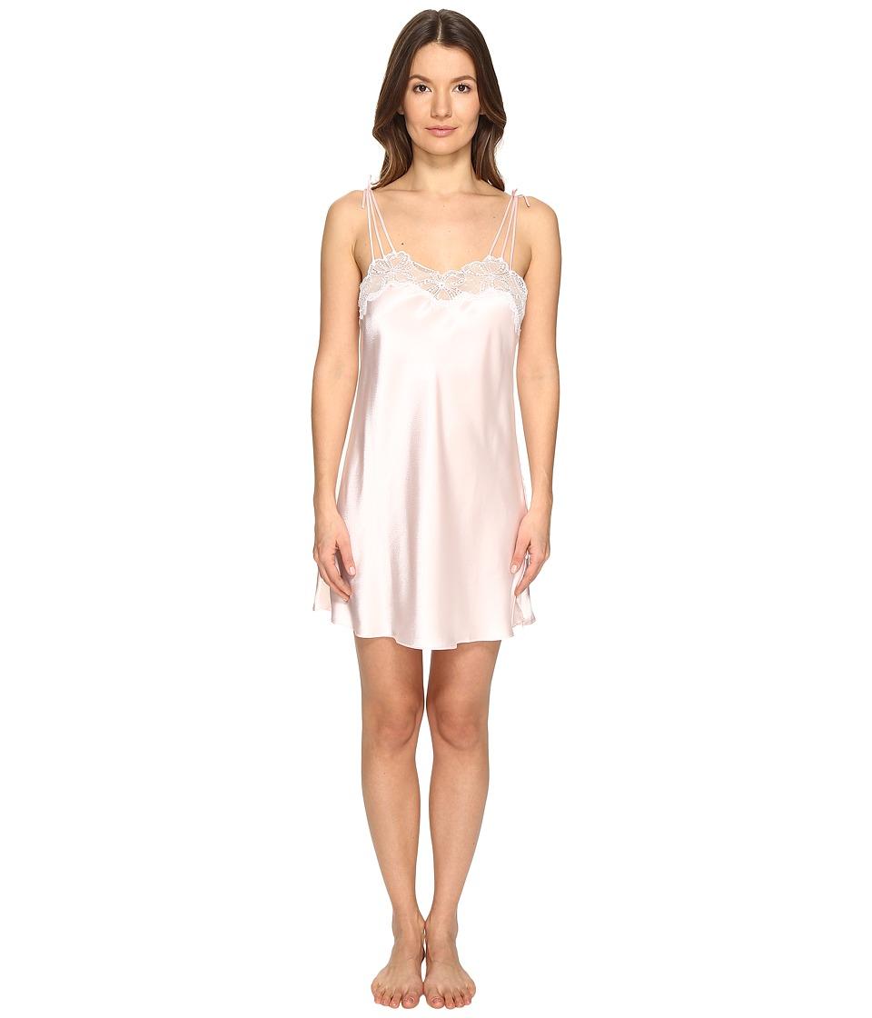 Oscar de la Renta Pink Label - 33 Silky Charmeuse Lace Chemise (Blushing Bride) Women's Pajama