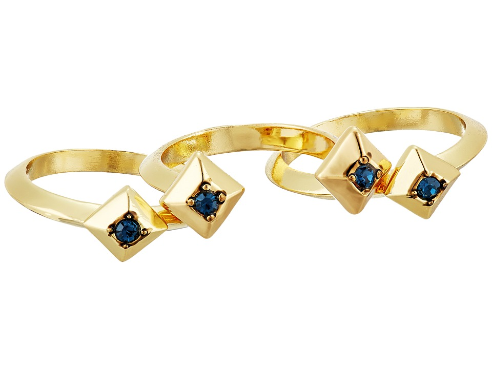 House of Harlow 1960 - Lyra Ring Set (Blue) Ring