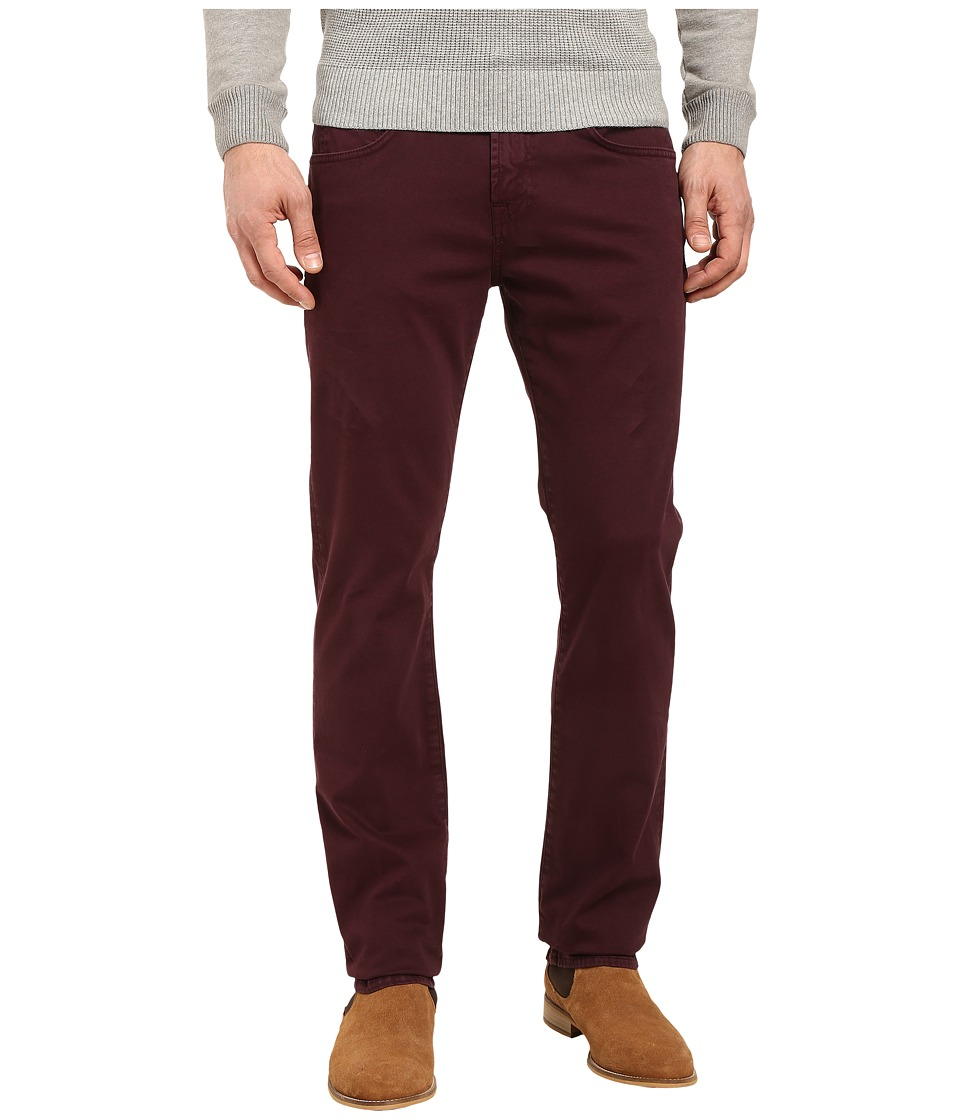 7 For All Mankind - The Straight Luxe Performance Sateen in Eggplant (Eggplant) Men's Jeans