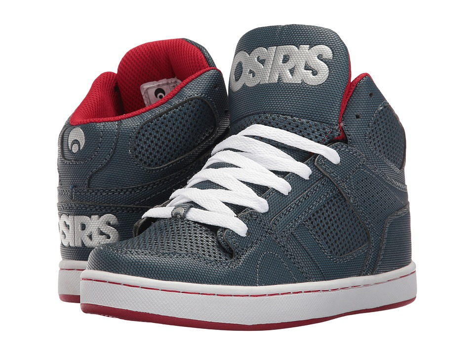 Osiris - NYC 83 (Little Kid/Big Kid) (Blue/Red/Silver) Men's Skate Shoes