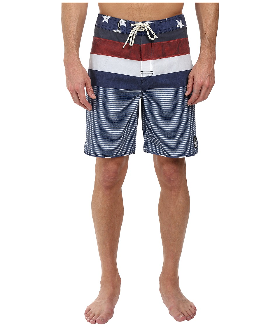 Rip Curl - YEWW.S.A. Boardshorts (Navy) Men's Swimwear