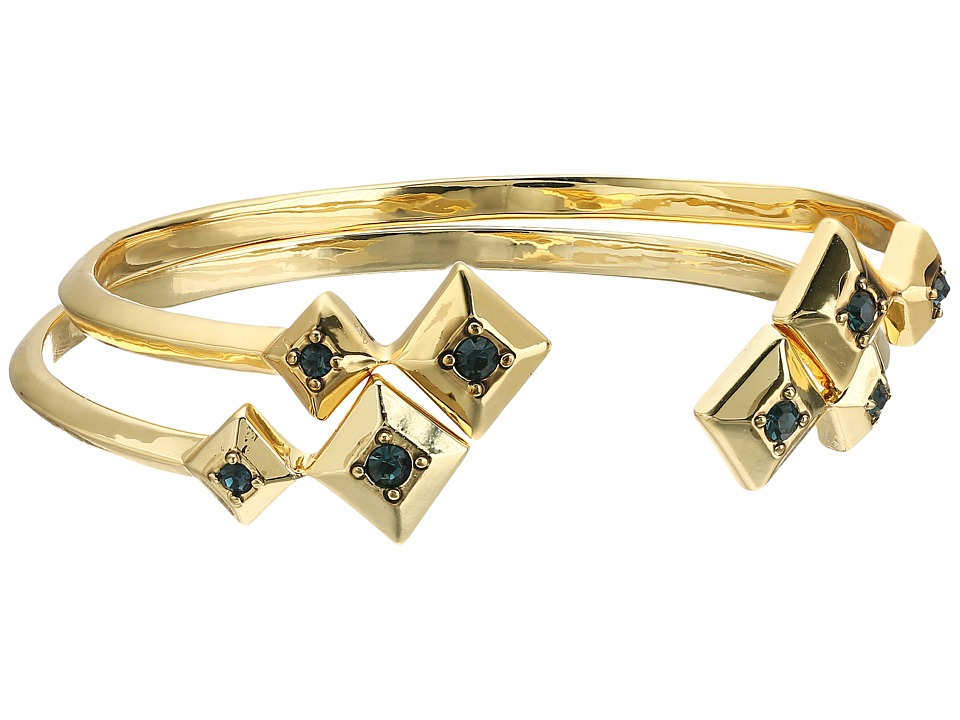 House of Harlow 1960 - The Lyra Cuff Bracelet Set (Gold/Blue) Bracelet