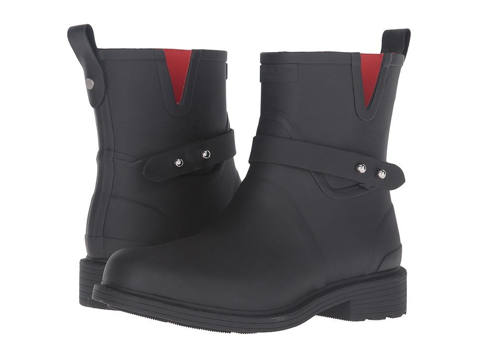 rag & bone - Moto Rain Boot (Black) Women's Rain Boots