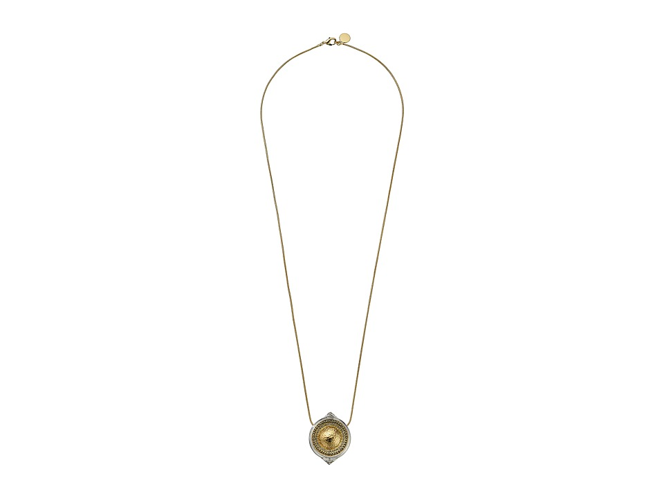 House of Harlow 1960 - Golden Scutum Pendant Necklace (Gold/Silver) Necklace