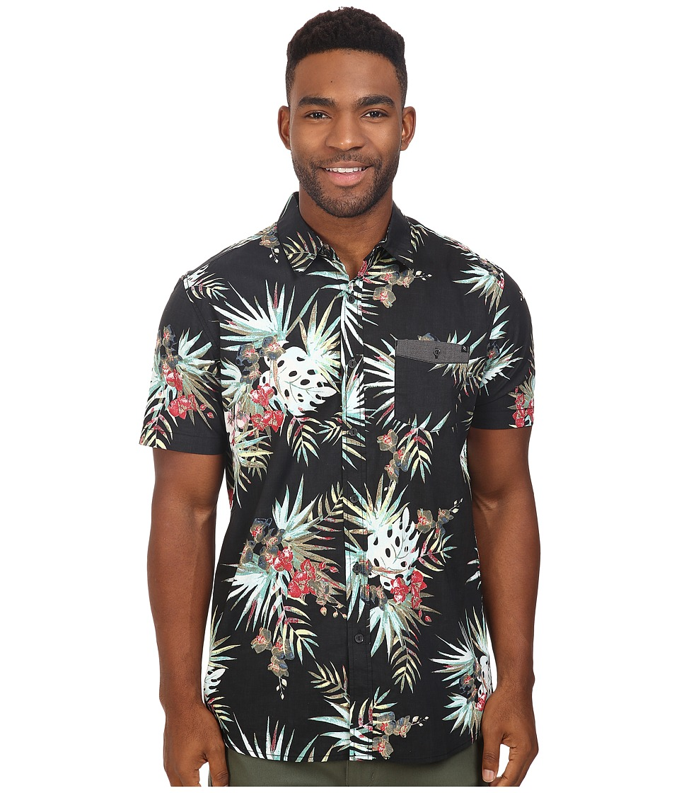 Rip Curl - Botanical Short Sleeve Shirt (Black) Men's Clothing
