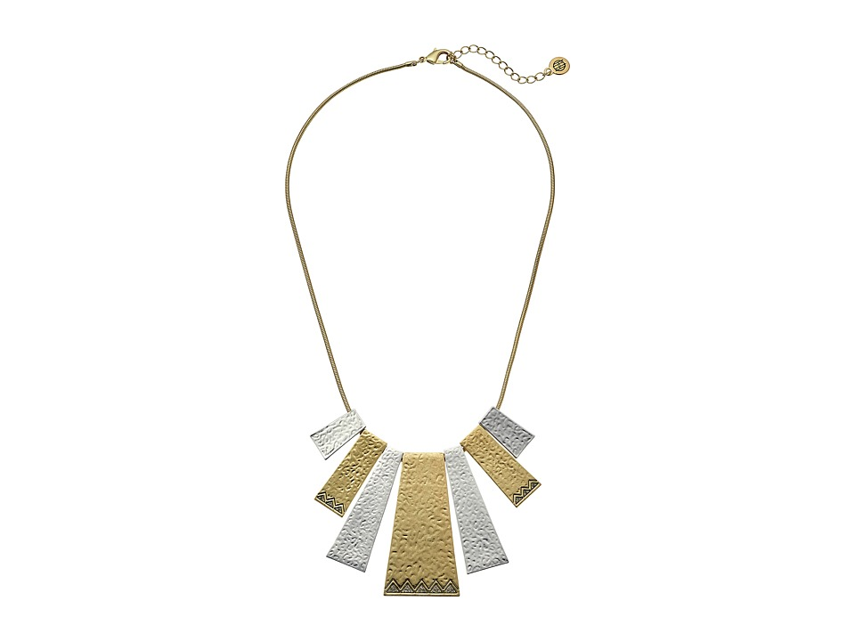 House of Harlow 1960 - Golden Scutum Statement Necklace (Gold/Silver) Necklace