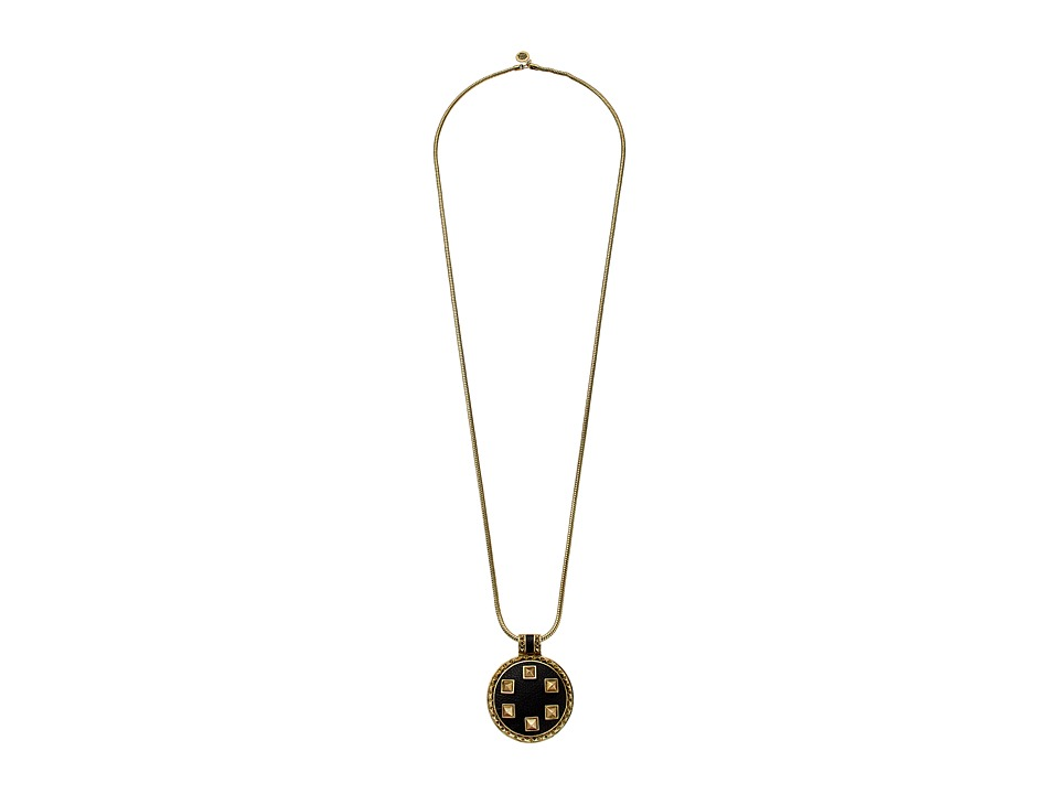 House of Harlow 1960 - Helicon Medellion Necklace (Gold/Black) Necklace