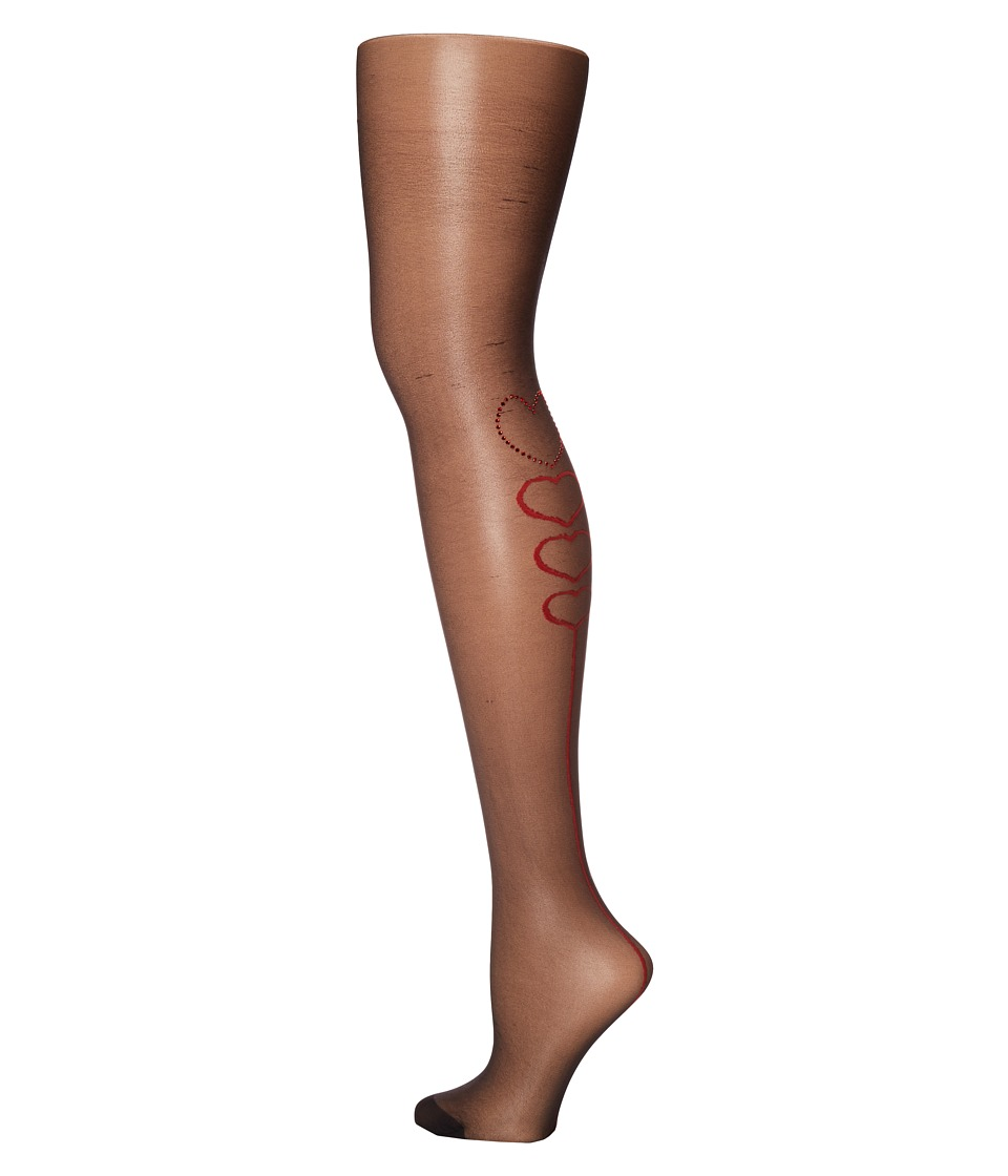 Pretty Polly - Hearts Back Tights (Black) Hose