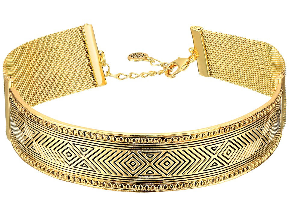 House of Harlow 1960 - Helicon Choker Necklace (Gold) Necklace