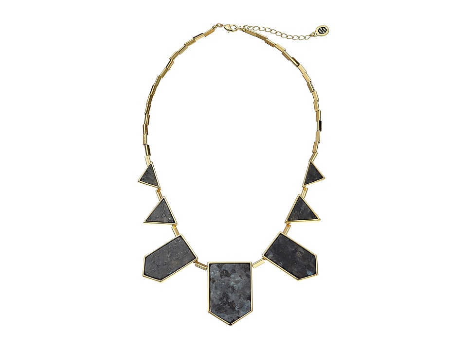 House of Harlow 1960 - Classic Station Necklace (Black) Necklace