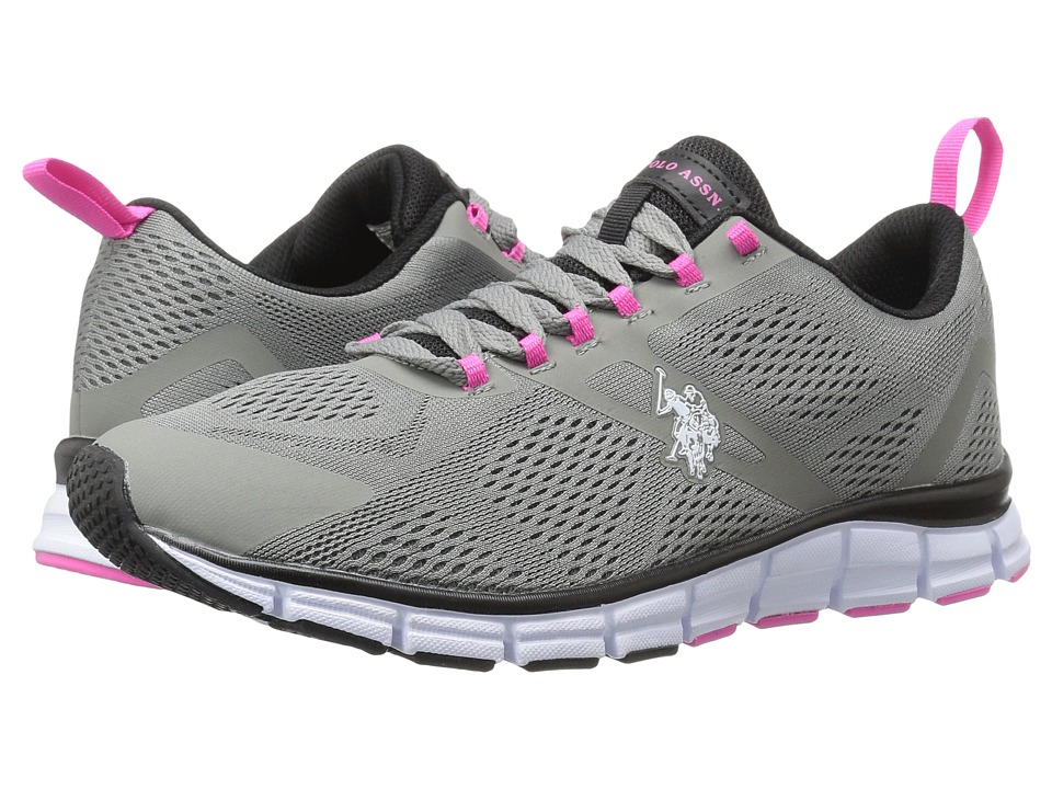 U.S. POLO ASSN. - Alison (Grey/Black/Fuchsia/White) Women's Shoes